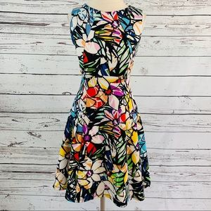 A-Line multicolored super cute dress!